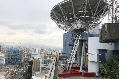 VertexRSI 6.1m antenna installed in Lima, Peru