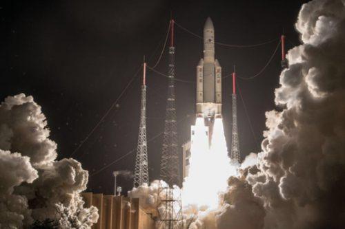 Al Yah 3 satellite launch on Ariane V