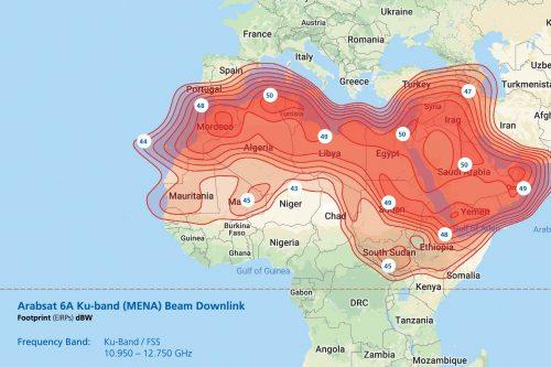 ArabSat-6A Ku-band (MENA) Beam Downlink