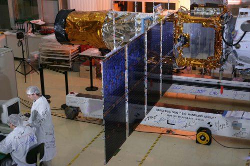 ArabSat BADR-4 under construction