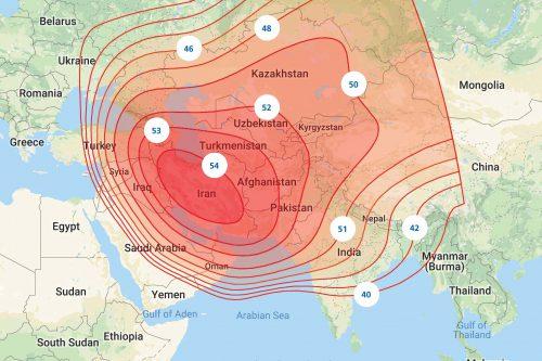 ArabSat BADR-5 Ku-band FSS (Central Asia) Downlink