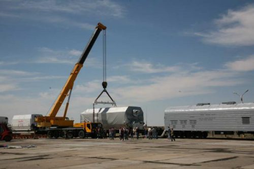 ArabSat BADR-5 transported to ILS launch site