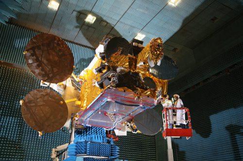 Arabsat-5A under construction