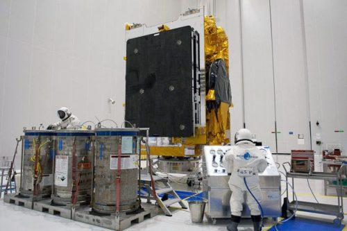 Arabsat-5C under construction