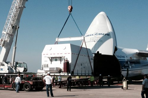 AsiaSat-6 arrives at Cape Canaveral launch site
