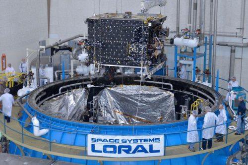 AsiaSat-7 Satellite under construction