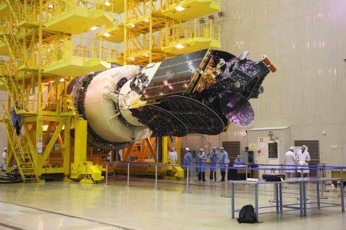 AsiaSat-9 satellite encapsulated