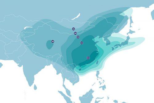 Asiasat-5 Satellite Ku-band East-Asia coverage