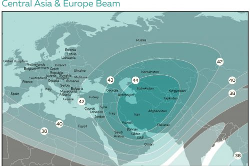 Azerspace-1 Central Asia & Europe C-band Beam