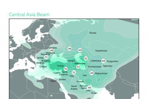 Azerspace-1 Central Asia Ku-band Beam