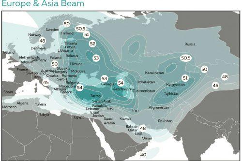 Azerspace-2 Europe & Asia Ku-band Beam