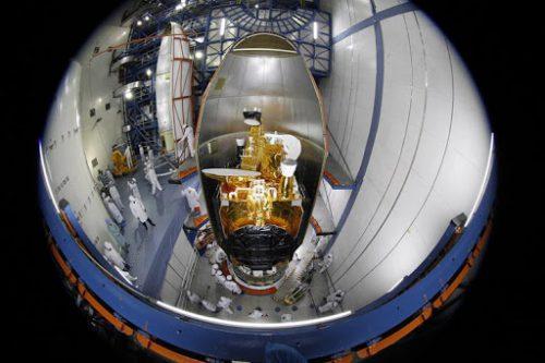Belintersat-1 satellite encapsulated