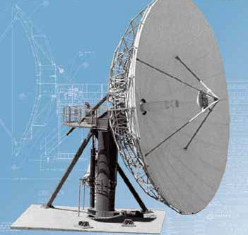 CPI 13.1m Large Fixed Earth Station Antenna