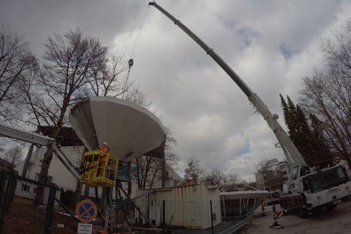 VertexRSI 6.3m antenna