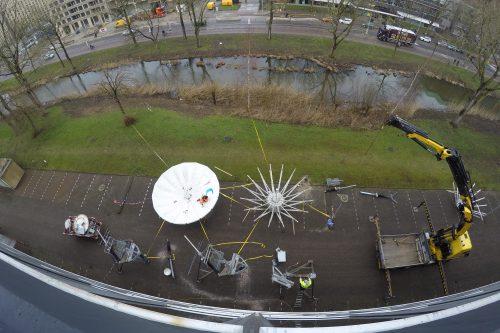 Satellite Antennas de-installed in Amsterdam, The Netherlands