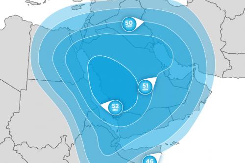 Hellas-Sat 2 Middle-East Ku-Band footprint