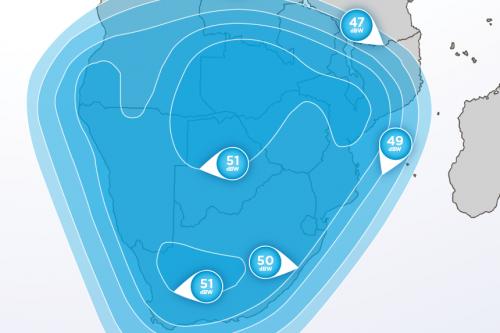Hellas-Sat 2 South-Africa Ku-Band footprint