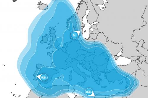 Hellas-Sat 3 Europe BSS footprint