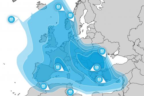 Hellas-Sat 3 Europe FSS Footprint