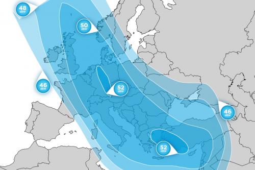 Hellas-Sat 3 Europe Ka-Band footprint
