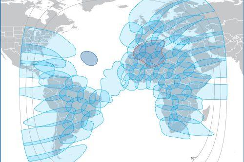 Intelsat footprint IS37e Ku-band
