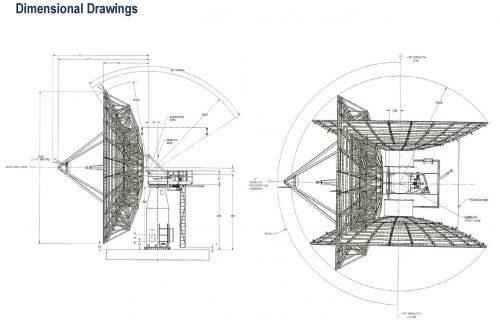 Kratos 13.5m THC C- or Ku-band Earth Station Antenna Dimensional Drawings