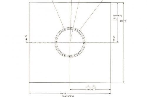 Kratos 13.5m THC C- or Ku-band Earth Station Antenna Foundation Slab