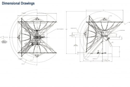 Kratos (Viasat) 7.2m Earth Station Antenna Dimensional Drawings