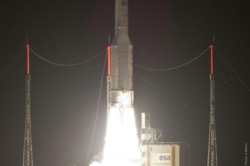Liftoff of Flight V191 with Amazonas 2 and COMSATBw-1