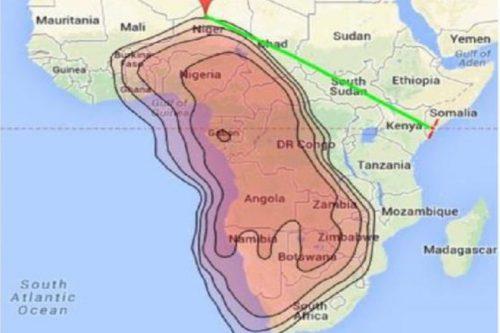 NigComSat-1R ECOWAS 2 Ku-band Beam