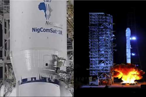 NigComSat-1R satellite launch