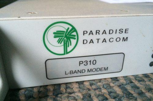 Paradise-Datacom-P310-L-band-modem-lable