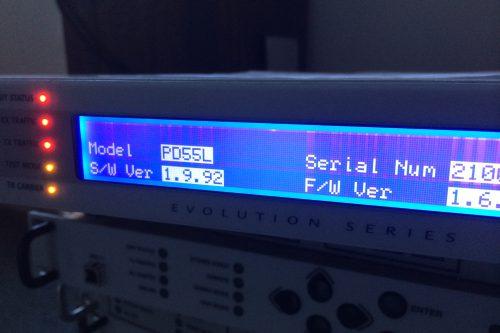 Paradise Datacom PD55L Evolution-series satellite modem display1