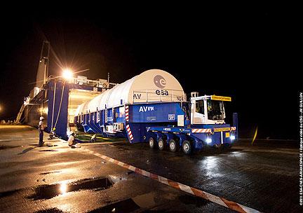 Yahsat 1A transported