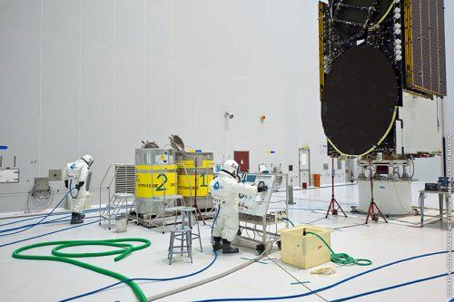 ABS-2 satellite under construction