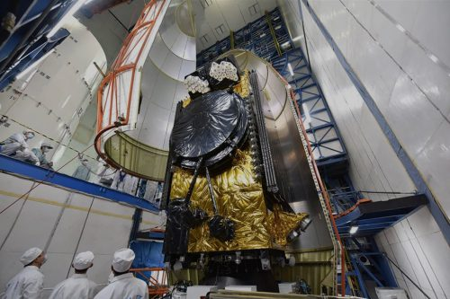 APSTAR-6D satellite encapsulated