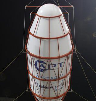 APSTAR-7 satellite in fairing