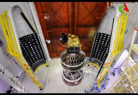 AlcomSat-1 satellite encapsulated