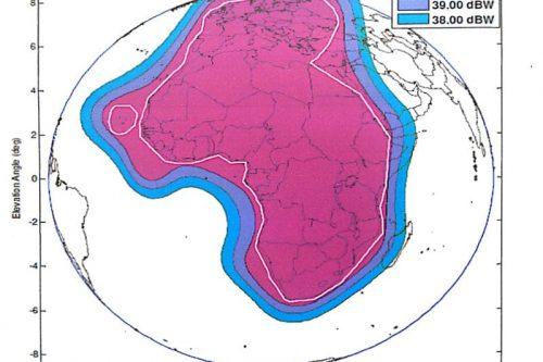 AngoSat-1 footprint C-band
