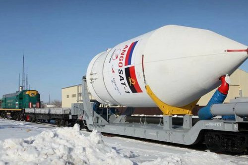 Angosat-1 heading for launch pad