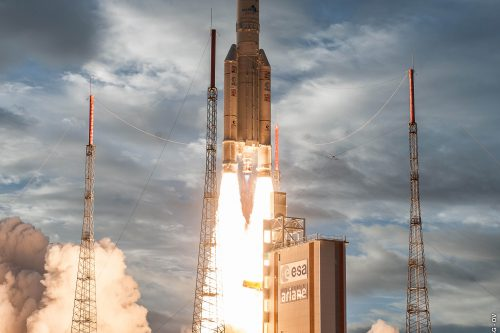 Ariane 5 launched RasComStar satellite