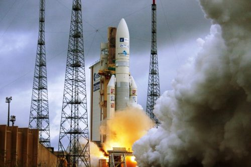 Ariane-5 launching GSAT-30 satellite