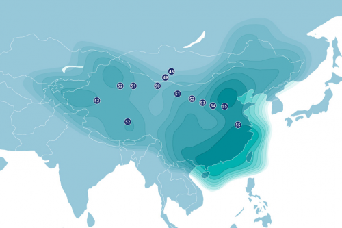 AsiaSat-8 Satellite Footprint Ku-band China Beam