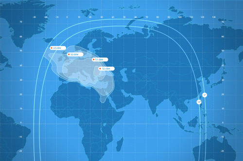 Coverage areas Ku-band Fixed Beam2 Express-АМ7 (40° E)