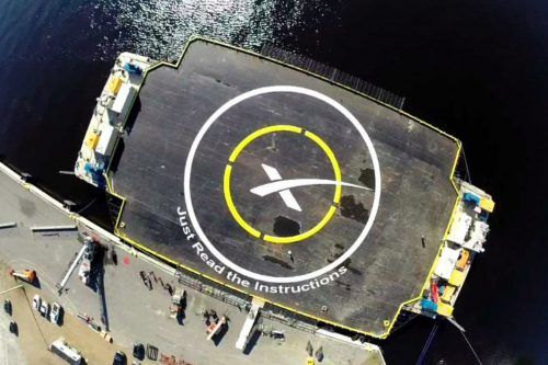 Drone ship JRTI will catch the Falcon 9 rocket booster