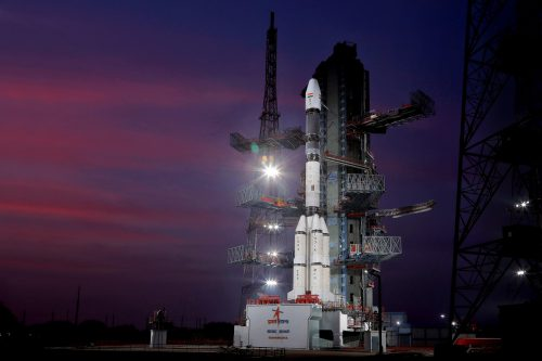 GSLV-F11 with GSAt-7a ready for launch