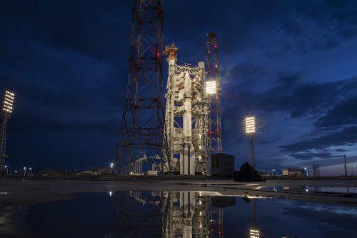 Gazprom Yamal 601 on Proton on launch pad