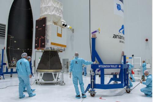 Horizons-3e satellite prepared for launch
