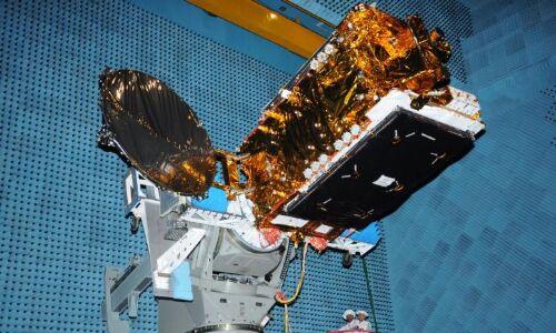 ISRO GSat-31 satellite under contruction