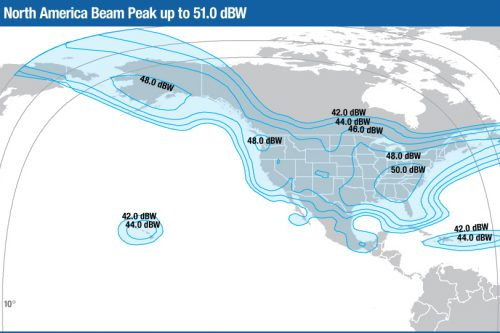 Intelsat Horizons-1 Ku-band North America beam